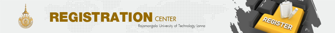 Website logo Admission and election of University Council faculty members | Registration Center of Rajamangala University of Technology Lanna